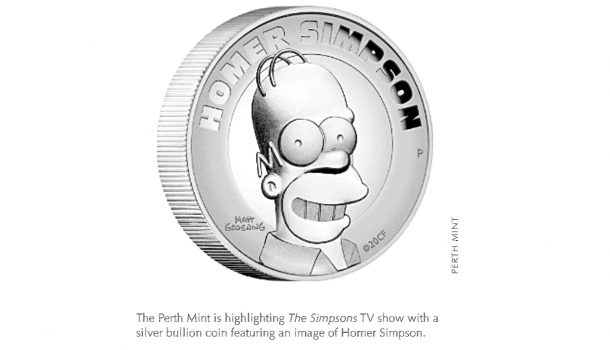Silver Coin Highlights the Simpsons