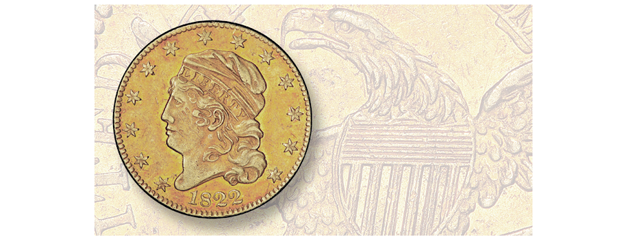 1822 Capped Bust $5 Gold To Sell for Millions